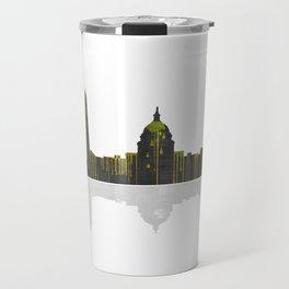 Washington DC Skyline BW 1 Travel Mug