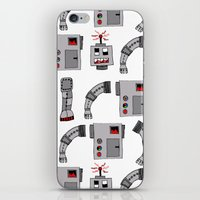 robots iPhone & iPod Skins featuring Robots  by Emma Joy Designs