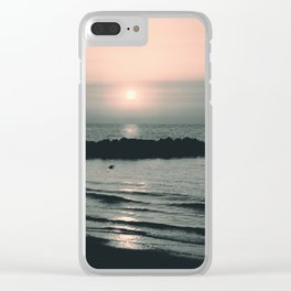 Sunset Ocean Bliss #4 #nature #art #society6 Clear iPhone Case
