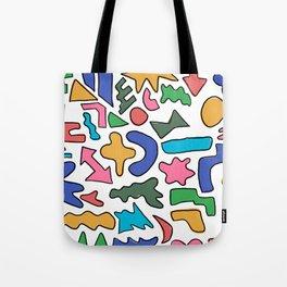 Colourful shapes Tote Bag