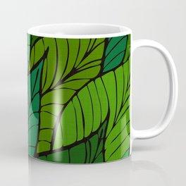 Lush / Leaf Pattern Coffee Mug