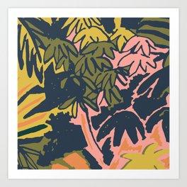 Abstract amazon print Art Print