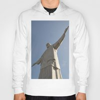 christ Hoodies featuring Christ Redentor by Love the Shoot