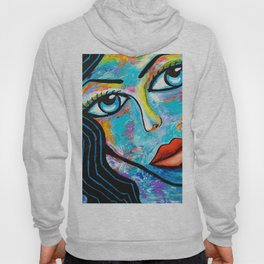 Woman with blue eyes Hoody
