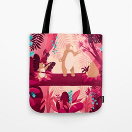 Dancing with the bears Tote Bag