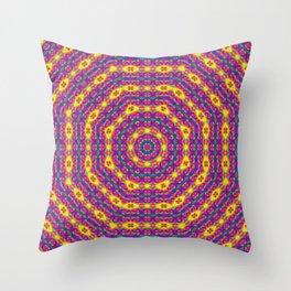 Psychedelic Splodge Mandala Pattern Throw Pillow