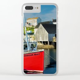 The Boat Harbour Mist in Peggy's Cove Clear iPhone Case