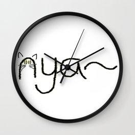 nya~ Wall Clock