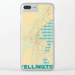 Wellington Map Retro Clear iPhone Case