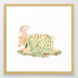 Colours to keep him warm Framed Art Print