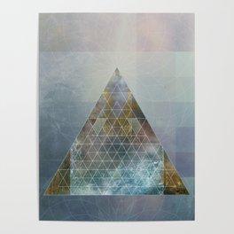 Perseid - Contemporary Geometric Pyramid Poster