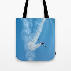 Air show with old military aircraft Tote Bag