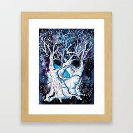 Galaxy Skulltrees. Framed Art Print