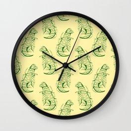 dinos kawaii Wall Clock