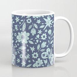 Blue Butterflies, Starfish and Flowers Coffee Mug