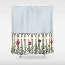 Where the Roses Grow Shower Curtain