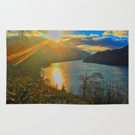 Columbia River Gorge, Sunset Rug
