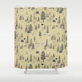 Forrest Pattern Shower Curtain