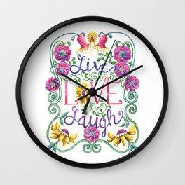 Live Love Laugh Wall Clock