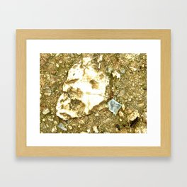 A Face In the Pavement Framed Art Print
