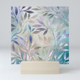 Painted Leaves 2 - color variation Mini Art Print