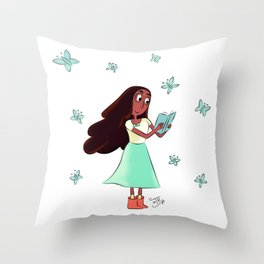 Connie and Buterflies Throw Pillow