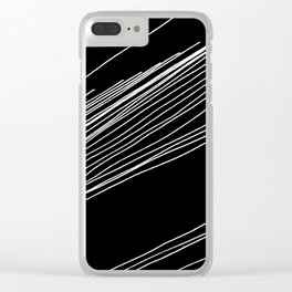 Walk The Line Clear iPhone Case