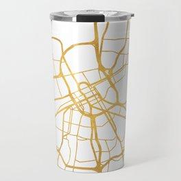 NASHVILLE TENNESSEE CITY STREET MAP ART Travel Mug