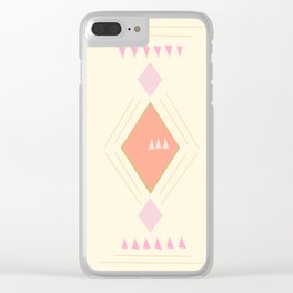 Pastel Aztec Shapes Clear iPhone Case