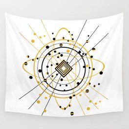 Complex Atom Wall Tapestry