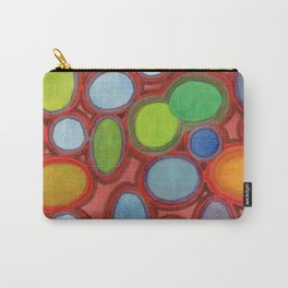 Abstract Moving Round Shapes Pattern Carry-All Pouch