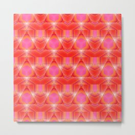 Candy Corn Inspired Pink & Orange Abstract Metal Print