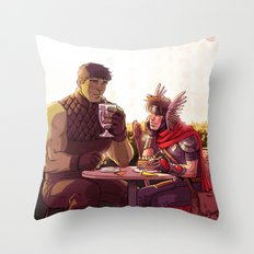 William and Theodore 24 Throw Pillow