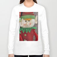 elf Long Sleeve T-shirts featuring Ginger Elf by IowaShots