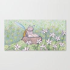 Mini White Stars Canvas Print