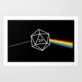 D20 Success Dungeons and Dragons D&D Art Print