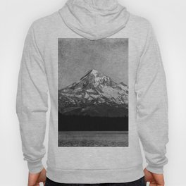 Mt Hood Black and White Vintage Nature Photography Hoody
