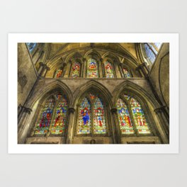 Rochester Cathedral Stained Glass Windows Art Art Print