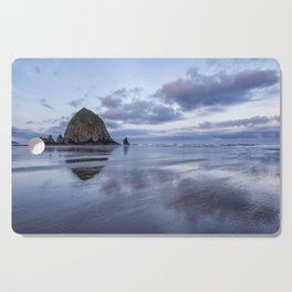 Haystack Rock at Low Tide in Early Morning Cutting Board