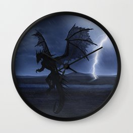 Dragon in the darkness Wall Clock