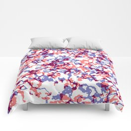 broken, red and blue Comforters