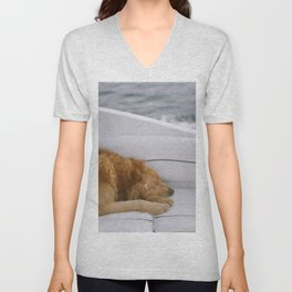 Dog by Brandon Hoogenboom Unisex V-Neck