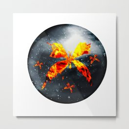 Blazing Butterflies Metal Print