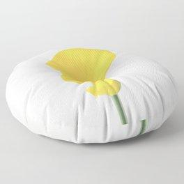 Yellow Calla Lily Floor Pillow
