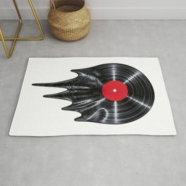 Melting vinyl / 3D render of vinyl record melting Rug