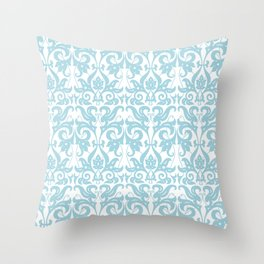 SOFT BLUE PARSLEY Throw Pillow