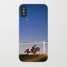 A rider and a horse Slim Case iPhone X