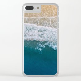 Water on the Beach (Color) Clear iPhone Case