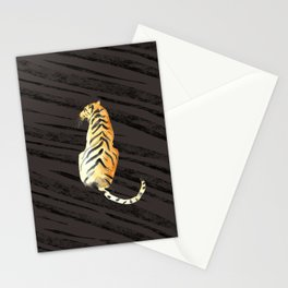 tiger pose with stripes Stationery Cards