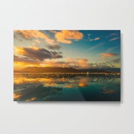 Iceland Sunset Metal Print